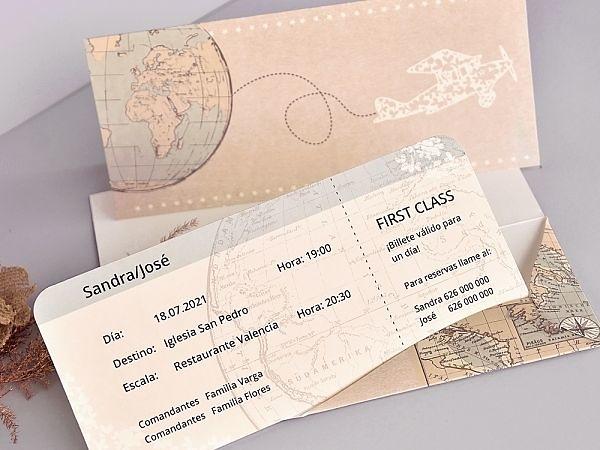 Invitación billete de avión 39704