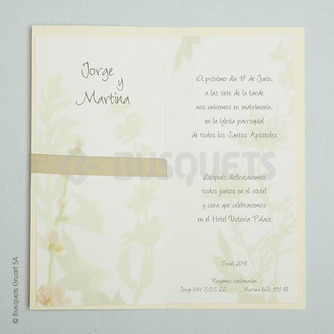 Invitación de boda Free Love 18949