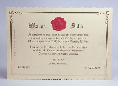 Invitación de boda 100733