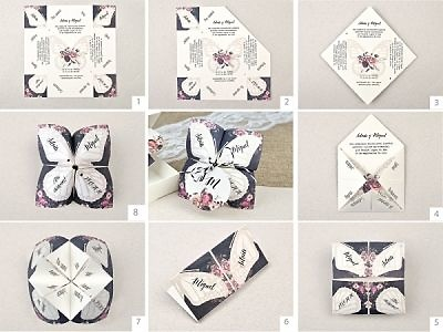 Invitación de boda comecocos mariposa 39638