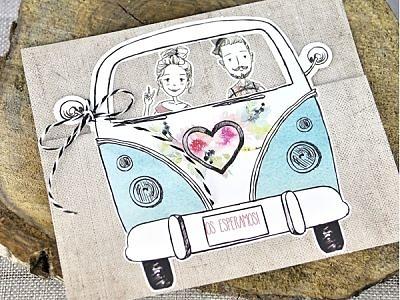 Invitación de boda furgoneta 39316
