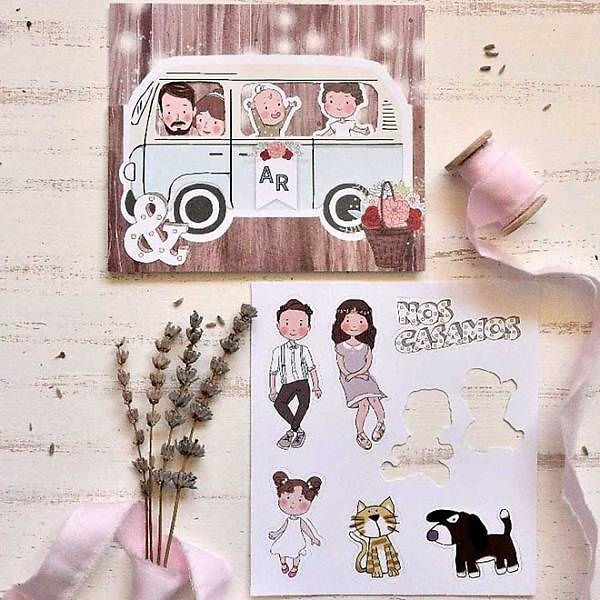 Invitación de boda furgoneta 39807