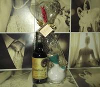 Botella de vino y porrón artesanía