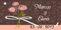 Etiqueta ramo flores - Modelo 5