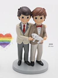 Figura pastel pareja de novios