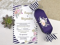 Invitación boda caramelo 39607