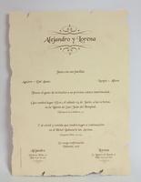 Invitación de boda Ref.100049