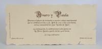 Invitación de boda Ref.100215