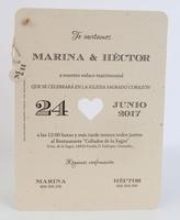 Invitación de boda Ref.100720