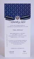Invitación de boda Ref.100725