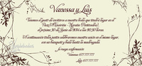 Invitación de boda Ref.22709 Impresión GRATIS