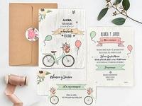Invitación de boda bicycle 39737