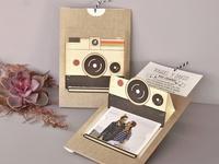 Invitación de boda cámara polaroid 39715