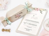 Invitación de boda caramelo vintage 39726