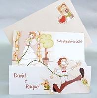 Invitación de boda cardnovel Ref.32820