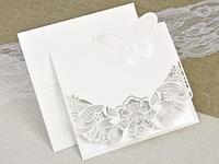 Invitación de boda corte láser 39624