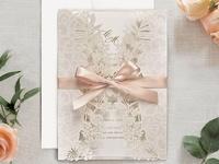 Invitación de boda corte láser 39707