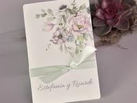 Invitación de boda flores 39721