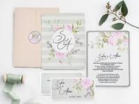 Invitación de boda flores 39740