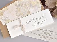 Invitación de boda forro travel 39735