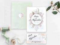 Invitación de boda hojas 39742
