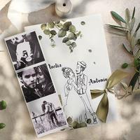 Invitación de boda novios 39811