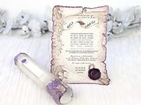 Invitación de boda pergamino vintage 39215