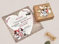 Invitación de boda puzzle Disney 39738