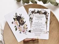 Invitación de boda vintage 39780