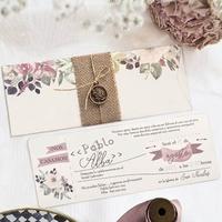 Invitación de boda vintage 39805