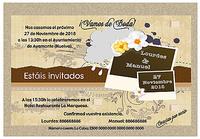 Invitación vintage marrón ref.178004