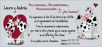 Invitaciones de boda Ref.22713 Impresión GRATIS