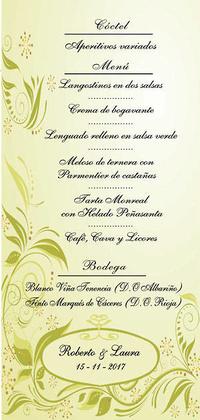 Minutas boda Otoño