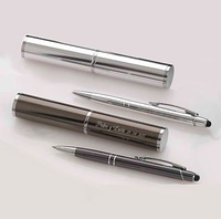 Set bolígrafo puntero táctil aluminio