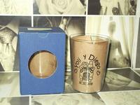 Vaso de sidra grabado y caja