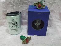 Vaso sidra grabado y tapón escanciador manzana